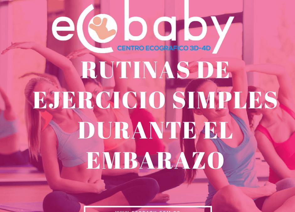 Rutinas de ejercicio para el embarazo