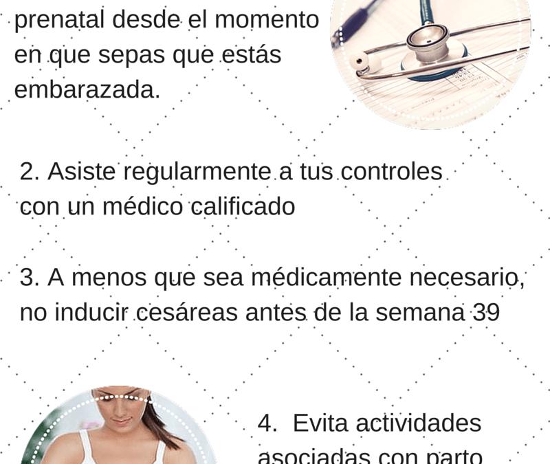 Prevenir bebés prematuros: 5 consejos