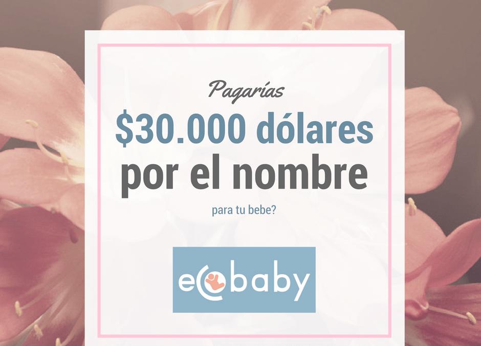 ¿Pagarías 30.000 dolares por darle un nombre a tu bebe?