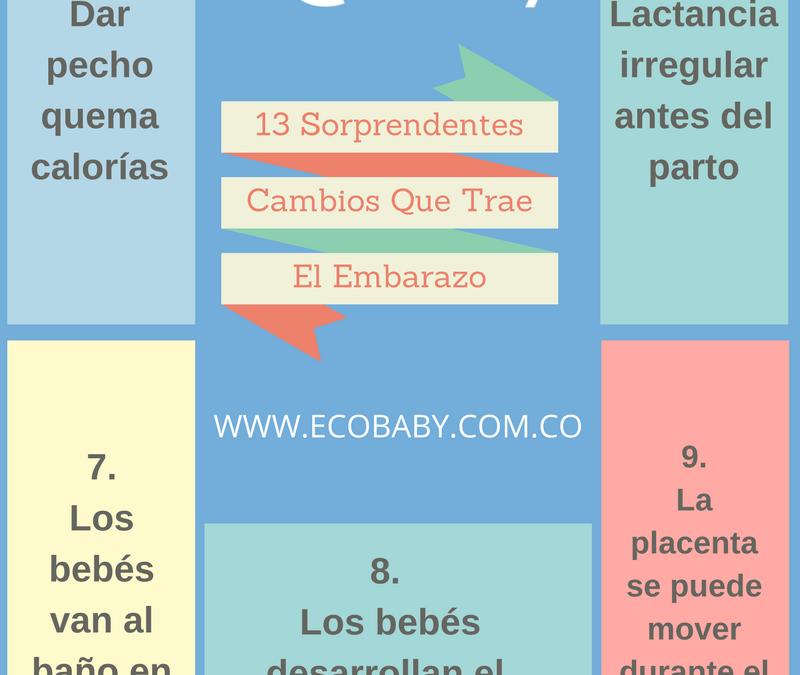 Cambios sorprendentes que trae el embarazo